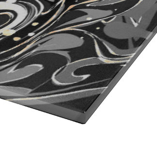 Black faux marble texture cutting board