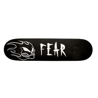 Black Fear Skateboard Deck with White