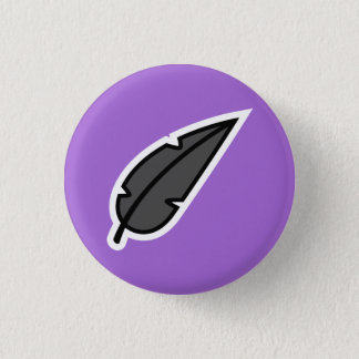 Black Feather 3 Cm Round Badge
