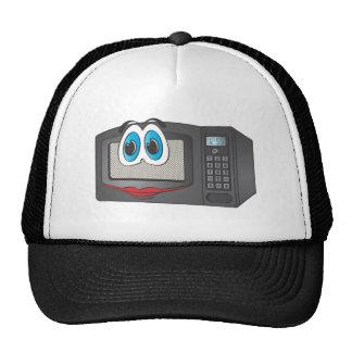 Black Female Cartoon Microwave Trucker Hats