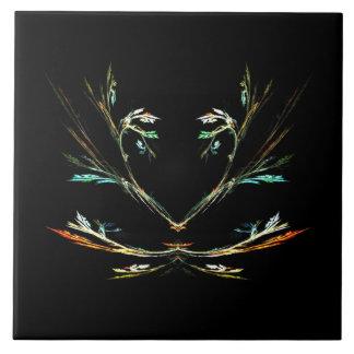 Black Fern Design Tile