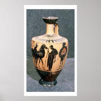 Black-figure Attic vase, 5th century BC Poster