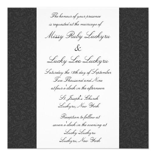 Black Filigree Invitation