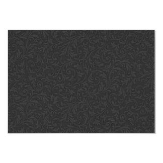 Black Filigree RSVP Note Card 9 Cm X 13 Cm Invitation Card
