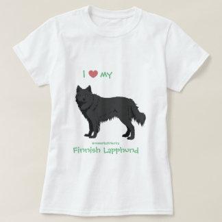 black Finnish Lapphund shirt - lapinkoira