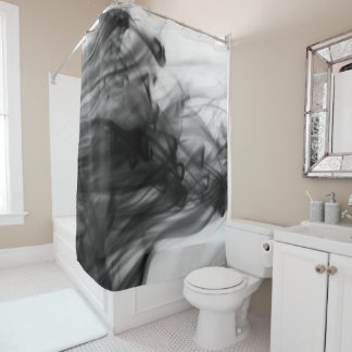 Black Fire I Shower Curtain by Artist C.L. Brown