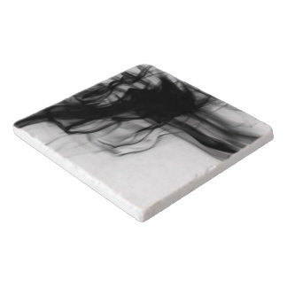 Black Fire II Marble Trivet by Artist C.L. Brown