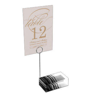 Black Fire  III Table Card Holder by C.L. Brown
