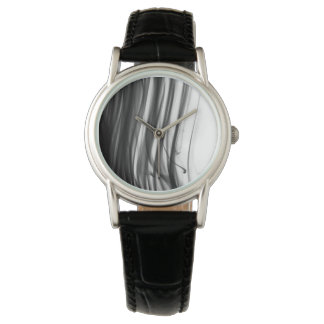 Black Fire III Women's Black Leather Strap Watch