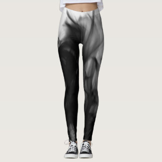 Black Fire IV Leggings by Artist C.L. Brown