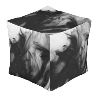 Black Fire IV Outdoor Cubed Pouf by C.L. Brown