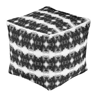 Black Fire IV Remix I Outdoor Cubed Pouf