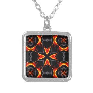 Black Fire Lava kaleidoscope Necklace