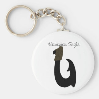 Black Fish Hook, Hawaiian Style key chain