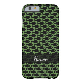 Black Fish in a Sea of Moss Green Barely There iPhone 6 Case