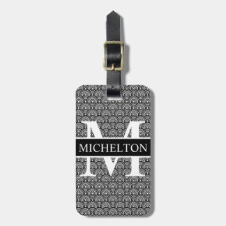 Black Fish Scale Personalized Luggage Tag