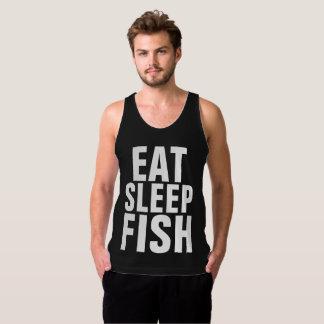 Black Fishing T-shirts & tank tops, EAT SLEEP FISH