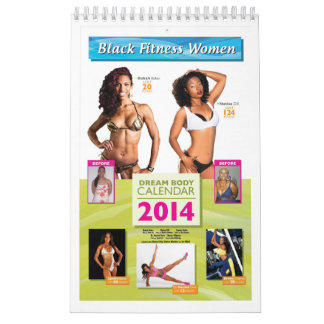 Black Fitness Women Dream Body Calendar