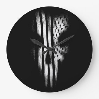 Black Flag Large Clock
