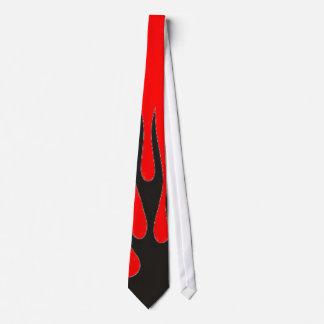 Black Flame (Red) Tie