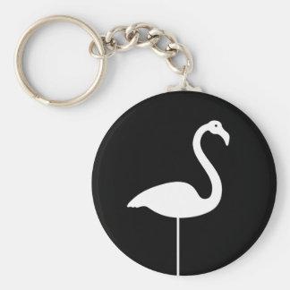 Black Flamingo Keychain