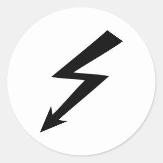 black flash icon round sticker