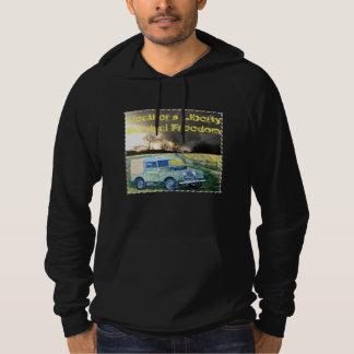 Black Fleeced Hooded Sweatshirt