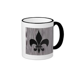 Black Fleur-de-lis Mug