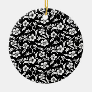 Black Floral Christmas Ornaments