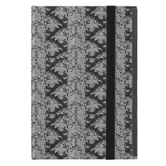 Black Floral Fine Lace Texture iPad Cover