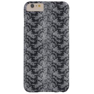 Black Floral Fine Lace Texture iPhone Case