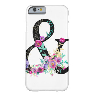 Black Floral Modern Ampersand Chic Rustic Country Barely There iPhone 6 Case