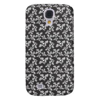 Black Floral Samsung Galaxy S4 Case