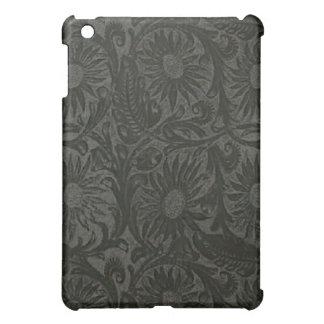 Black Floral Suede Look Speck iPad Case