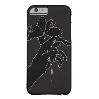 Black Flower Hand Barely There iPhone 6 Case