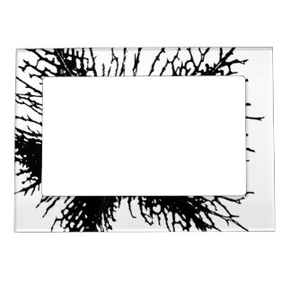 Black Flower Magnetic Frame