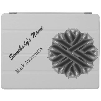 Black Flower Ribbon by Kenneth Yoncich iPad Cover