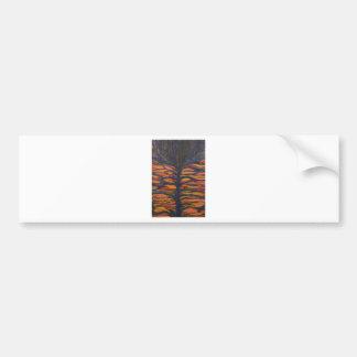 Black Flower(Symbolic Expressionism) Bumper Sticker