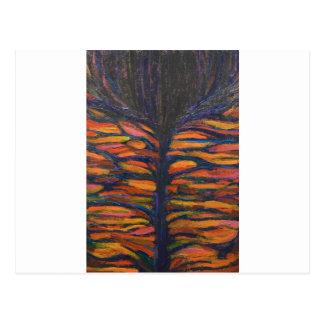 Black Flower(Symbolic Expressionism) Postcard