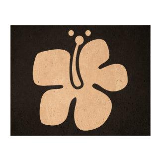 Black Flowers Minimal Cork Paper Prints