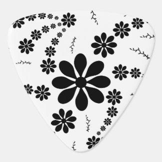 Black Flowers Plectrum