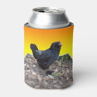 Black_Fluffy_Chicken_Stubby_Can_Cooler_Holder Can Cooler