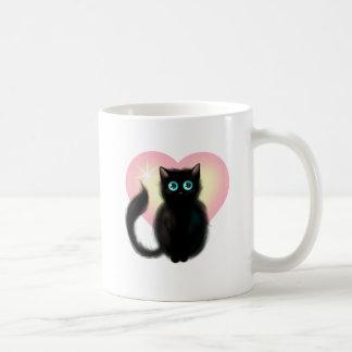 Black Fluffy Kitten Coffee Mug