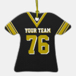 Black Football Jersey with Photo