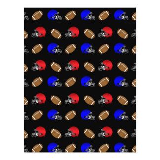 Black footballs helmets pattern 21.5 cm x 28 cm flyer
