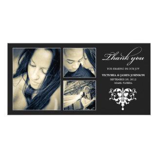 BLACK FORMAL COLLAGE   WEDDING THANK YOU CARD