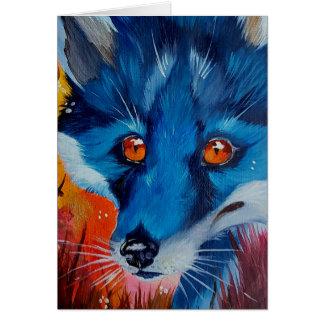 Black fox greeting cards