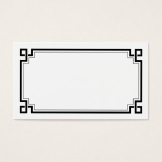 Black Frame Art Deco White Wedding Place Names