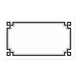 Black Frame Art Deco White Wedding Place Names Pack Of Standard Business Cards