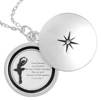 Black frame Dance Motivational 2 Locket